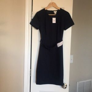 J crew navy blue dress